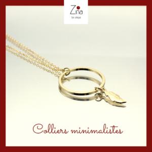 Colliers minimalistes